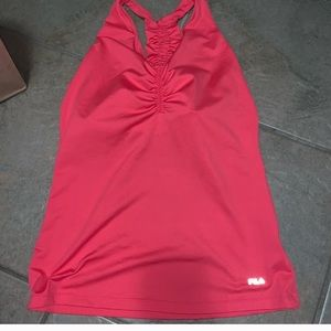 FILA pink workout tank with built in bra